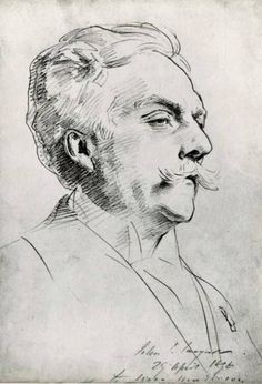 Notice in a fine drawing like this portrait of Gabriel Fauré, by John Singer…