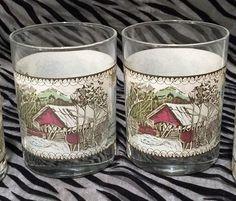 "2 Johnson Bros. ""The Friendly Village"" Double Old Fashioned Glasses 12oz.   eBay"