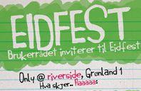 EID-fest på Riverside ungdomshus søndag 5. oktober. Vi åpner kl.14. Gratis mat og drikke :-)