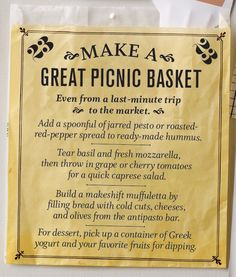 #23: Make a Great Picnic Basket #bucketlist