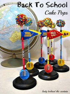 Back to School cake pops