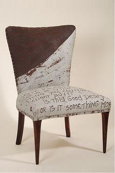 Designer Draga Obradovic's interesting textiles and furniture.