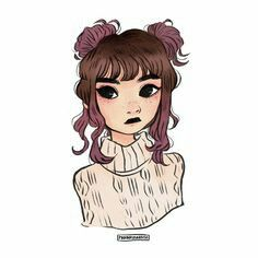 Ilustração de uma garota meio paulista