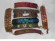 All these awesome braclets from a thriftstore belt.