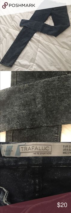 Zara washed out dark skinny jeans Like new! Zara washed out dark skinny jeans! Zara Jeans Skinny