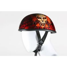 Orange bike helmet