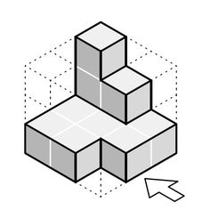 Pieza simple en vistas axonométrica Isometric Drawing Exercises, Geometric Drawing, Concrete Art, Perspective Drawing, Drawing Practice, Technical Drawing, Geometry, Architecture Design, Cube