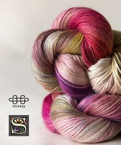 Knitting kits with hand dyed yarn from Tricksy Knitter!.