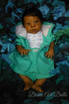 Reborn Thandie by Adrie Stoete brought to life by Divine Art Dolls