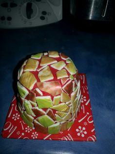 Mosaic  mini Christmas cake Mini Christmas Cakes, Artichoke, Watermelon, Mosaic, Fruit, Vegetables, Food, Meal, Mosaics