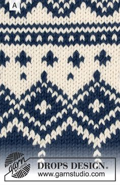 Perles du Nord / DROPS - Free knitting patterns by DROPS Design - Perles du Nord / DROPS – The set includes: sweater with round yoke, multicolored Norwegian - Fair Isle Knitting Patterns, Jumper Patterns, Knitting Charts, Knitting Socks, Knitting Designs, Knitting Stitches, Free Knitting, Baby Knitting, Knitting Ideas