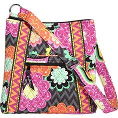 Women's Cross-Body Handbags - Vera Bradley Ziggy Zinnia Hipster * You can get more details by clicking on the image.