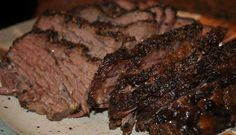 Ingredients:    7-11 lb. brisket, untrimmed  1-2 drops liquid smoke  1 tablespoon salt  4-6 tablespoons McCormick Montreal Grill Mate Steak Seasoning    Directions:    Trim brisket of excessive fat, but leave a nice layer for a wonderful flavor. Place brisket in a large roasting