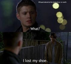 Sam was too cute in this moment! Like a little kid lol