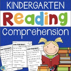 This is a set of 15 reading passages with comprehension questions appropriate for kindergarten. They are designed for beginning readers and slowly increase in difficulty as you… Kindergarten Language Arts, Teaching Kindergarten, Teaching Reading, Teaching Resources, Teaching Ideas, Reading Comprehension Passages, Comprehension Strategies, Teaching Main Idea, Reading Difficulties