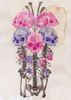 flower skull - Google Search
