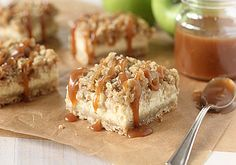 The Galley Gourmet: Caramel Apple Cheesecake Bars with Streusel Topping