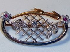 This is an exceptional example of Edwardian design by Lambert Brothers (signed on the reverse), a top NYC jeweler (1877-1977), and is highly