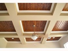 Nice take on the coffered ceiling...
