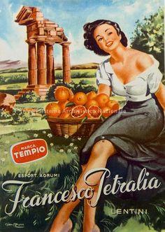 Vintage Italian Posters ~ #illustrator #Italian #posters ~ Francesco Petralia, manifesto pubblicitario, 1940-1950