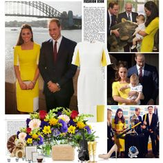 Prince William, Duchess Catherine and Prince George, created by blackbeauty01 on Polyvore
