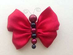 Red Satin Ribbon Butterfly Bow/ Hair Bow/ Hair by HeavensBabyShop, $3.00