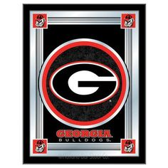 Holland Bar Stool NCAA  Logo Mirror Framed Graphic Art NCAA Team: