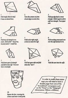 How To Make Paper Hats -
