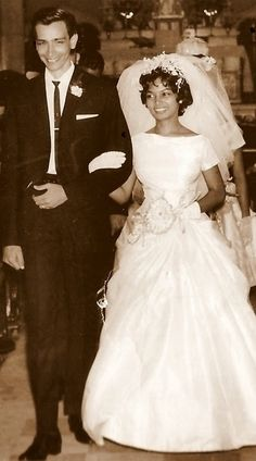 1965 newlyweds who celebrated 50 years together this year. (Via Treasures in Threads blog)