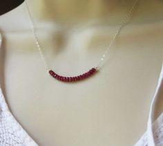 Ruby Necklace Genuine Rubies July Birthstone par BriguysGirls, $32.00