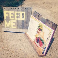 Cookbook Stand on Etsy, $20.00