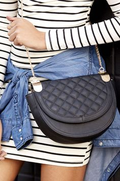 quilted black cross body bag