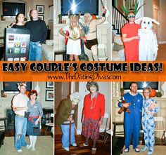 Quick & easy creative Halloween costumes for couples! #halloween #costumes