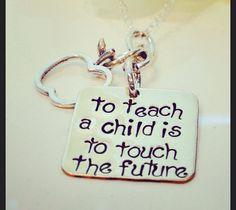 Teacher Necklace,Teacher Gift, Teacher Retirement Gift, Gift From Student