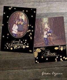 Golden Elegance - 5x7 Christmas Card Template Holiday Ornaments, Holiday Cards, Christmas Cards, Merry Christmas, Christmas Card Template, Ornament Box, Holiday 2014, New Year Celebration, Family Traditions
