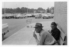 Man and wife eating ice cream, Bainbridge Mall, 1976    Paul Kwilecki