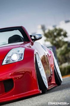 #Nissan #350z.... Love this red.. But a target for  tickets! Oh how I know!