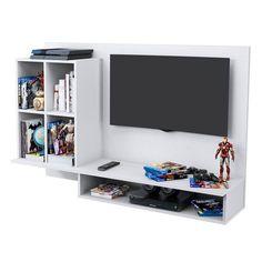 Foto 1 - Painel Multiuso Para Tv Até 50 Pol Show Branco Móveis Albatroz