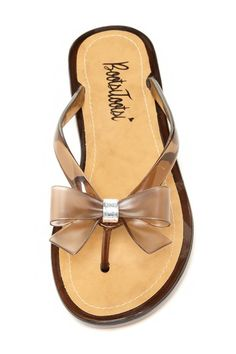 Ring Bow Jelly Sandal