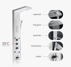 Fapully China Stainless Steel Thermostatic Shower Faucet Bathroom Shower Panels
