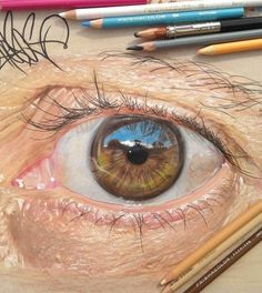 renkli kalem göz çizimi (2)