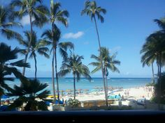The view from Duke's on Waikiki beach