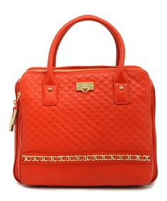 Loving this BODHI Tangerine Quilted Leather Satchel on #zulily! #zulilyfinds