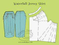 waterfall draped skirt