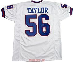 Lawrence Taylor Signed Autographed New York Giants Custom White Jersey  PSA DNA COA at Amazon s Sports Collectibles Store 886a38ea6