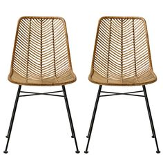 Lot 2 Chaises Lena rotin naturel - Bloomingville - Visuel 1