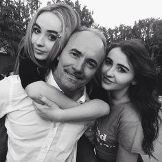 Sabrina and Sarah Carpenter with their dad