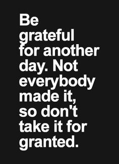 I'm grateful .... How about you?