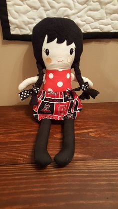 NC State Skirt + extra skirt, Rag Doll- Handmade Doll-Fabric Doll-Girl Soft 18 inch Doll by SusansCraftsAndSuch on Etsy