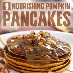 9 Nourishing Paleo Pumpkin Pancake Recipes- start your day off right.